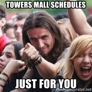 Ridiculously Photogenic Metalhead - Towers Mall Schedules Just for you