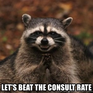 evil raccoon - let's beat the consult rate