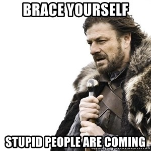 Winter is Coming - brace yourself stupid people are coming