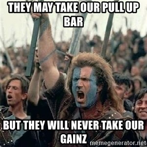 Brave Heart Freedom - They may take our pull up bar But they will never take our gainz