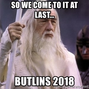 White Gandalf - So we come to it at last... Butlins 2018
