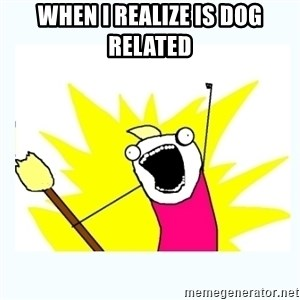 All the things - WHEN I REALIZE IS DOG RELATED