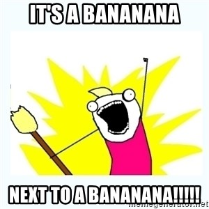 All the things - It's a bananana next to a bananana!!!!!