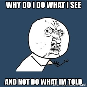 Y U No - Why do I do what I see And not do what im told