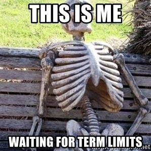 Waiting skeleton meme - This is me waiting for term limits