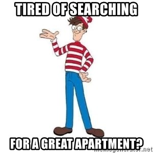 Where's Waldo - Tired of Searching For a Great Apartment?