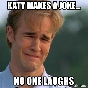James Van Der Beek - Katy Makes a Joke... No one laughs