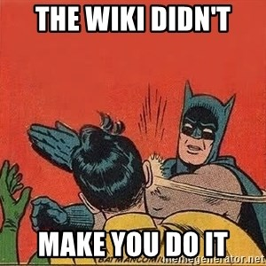 batman slap robin - The Wiki Didn't Make you do it