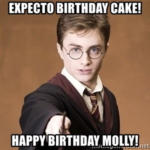 Advice Harry Potter - EXPECTO BIRTHDAY CAKE! HAPPY BIRTHDAY MOLLY!