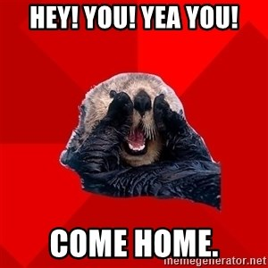 Otter Failure - Hey! You! Yea you! Come home.