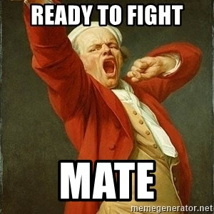 Joseph Ducreux - ready to fight MATE