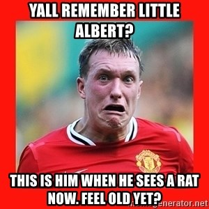 Phil Jones Scared Face - Yall remember little Albert? This is him when he sees a rat now. Feel old yet?