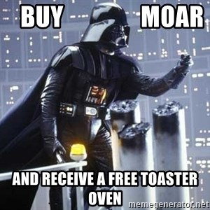 Darth Vader Shaking Fist - buy                moar and receive a free toaster oven