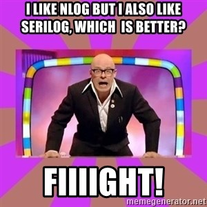 Harry Hill Fight - I like nlog but i also like serilog, which  is better? FIIIIGHT!
