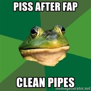Foul Bachelor Frog - piss after fap clean pipes