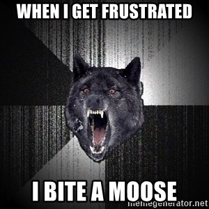 Insanity Wolf - When I get frustrated I bite a moose