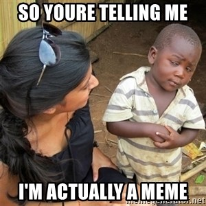 So You're Telling me - so youre telling me I'm actually a meme