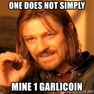 One Does Not Simply - ONE DOES NOT SIMPLY MINE 1 GARLICOIN