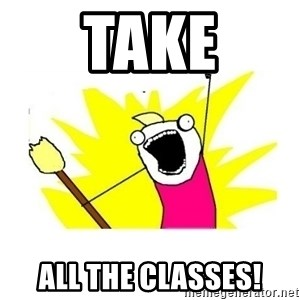 clean all the things blank template - Take all the classes!
