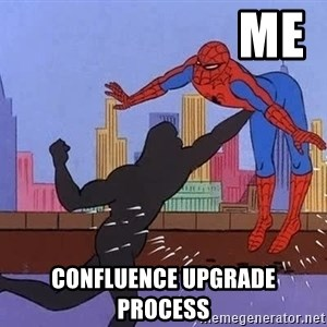 crotch punch spiderman - me confluence upgrade process