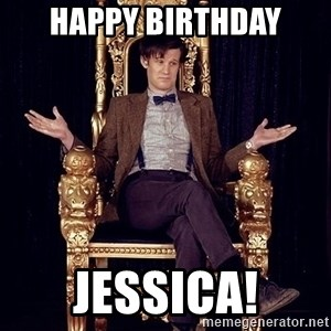 Hipster Doctor Who - Happy birthday Jessica!