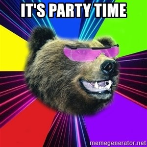 Party Bear - It's party time