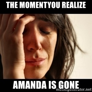 crying girl sad - the momentyou realize amanda is gone