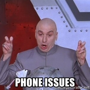 Dr. Evil Air Quotes - phone issues
