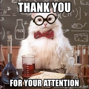 Science Cat - Thank you For your attention