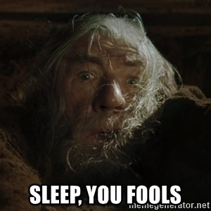 gandalf run you fools closeup - Sleep, you fools
