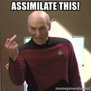 Picard Finger - Assimilate this!