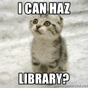 Can haz cat - I can haz library?