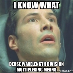 i know kung fu - I know what Dense wavelength division multiplexing means