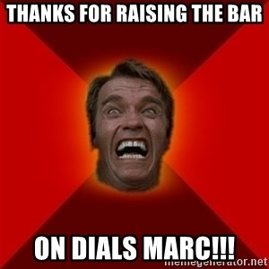 Angry Arnold - thanks for raising the bar on dials marc!!!