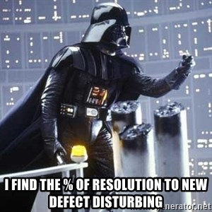 Darth Vader Shaking Fist - I find the % of resolution to new defect disturbing