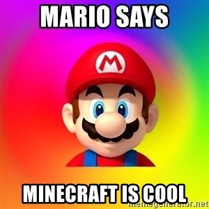 Mario Says - mario says minecraft is cool