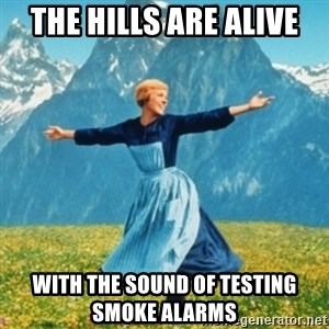 Sound Of Music Lady - the hills are alive with the sound of testing   smoke alarms