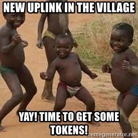 african children dancing - new uplink in the village YAY! time to get some tokens!
