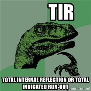 Raptor - TIR Total Internal Reflection or Total Indicated Run-Out