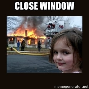 burning house girl - close window