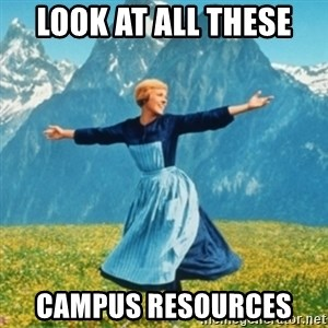 Sound Of Music Lady - LOOK AT ALL THESE  CAMPUS RESOURCES