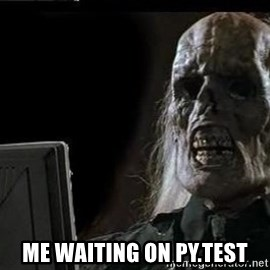 OP will surely deliver skeleton - Me waiting on py.test