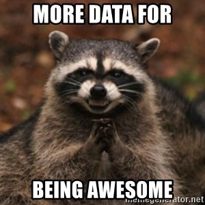 evil raccoon - More data for being awesome
