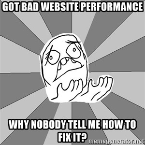 Whyyy??? - got bad website performance why nobody tell me how to fix it?