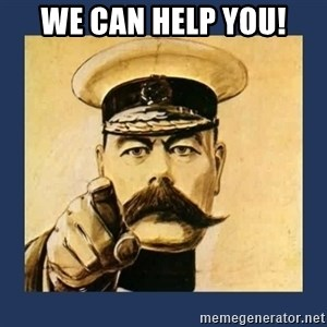 your country needs you - We can help you!