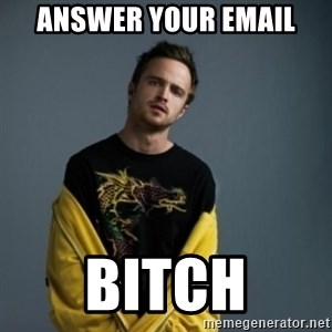 Jesse Pinkman - answer your email bitch