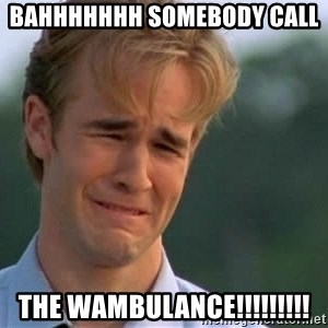 James Van Der Beek - Bahhhhhhh Somebody call  the WAMBULANCE!!!!!!!!!