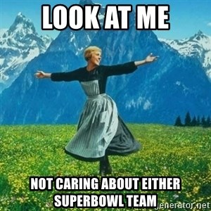 Look at All the Fucks I Give - Look at me not caring about either Superbowl team