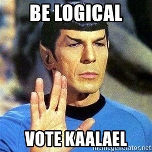 Spock - Be Logical Vote KAALAEL