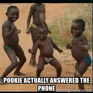 Dancing black kid - Pookie actually answered the phone